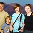 Stock Photo: Family photo at south rim , Grand canyon f