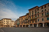 Romantic Market place at old town Bassano del Grappa in early m — Stock Photo