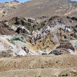 Scenic road Artists Drive in Death valley with colorful stones, hills  with - Stok fotoğraf