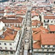 "View from the ""Elevador de Santa Justa"" to the old part of Lisbon — Zdjęcie stockowe"
