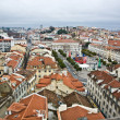 "View from the ""Elevador de Santa Justa"" to the old part of Lisbon — Stock Photo"