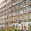 Stock Photo: Houses in Scaffold