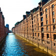 Speicherstadt in Hamburg - Stock Photo