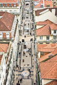 "View from the ""Elevador de Santa Justa"" to the old part of Lisbon — Stock fotografie"