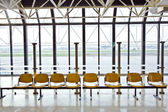 Waiting hall at the airport — Stock Photo
