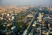 View to the skyline of Bangkok from a skyscraper — Stock Photo