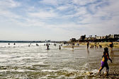 Beachlife in late afternoon — Stock Photo