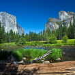 View to western rocket plateau of yosemite national park - Stock Photo