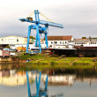 Dockyard on river main — Stock Photo #5803518