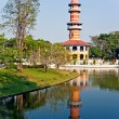 The Royal Residence (Phra Thinang) and Sages Lookout Tower - Stock Photo