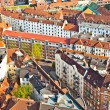 Cityscape of Hamburg from the famous tower Michaelis - Stock Photo
