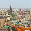 Cityscape of Hamburg from the famous tower Michaelis — Photo