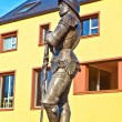 Statue of knight Hartmut zu Kronberg - Stock Photo