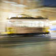 Lisbon at night, famous tram, historic streetcar is running — Stock Photo #5811019
