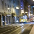 Lisbon at night, famous tram, historic streetcar is running — Stock Photo #5811036