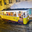 Lisbon at night, famous tram, historic streetcar is running — Stock Photo #5811082