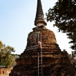 Worker is cleaning surface of famous temple areWat PhrSi — Stock Photo #5815226