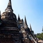 有名な寺院区域ワットプラシリコンサン、高貴な宮殿 ajutthay の — ストック写真