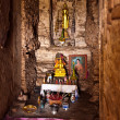 Famous temple area Wat Phra Si Sanphet, Royal Palace in Ajutthay — Foto de Stock