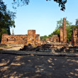 Famous temple area Wat Phra Si Sanphet, Royal Palace in Ajutthay — Stock Photo #5815286