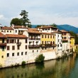 View over river Brenta in old village Basano del Grappa in Italy — Stock Photo #5818245