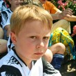 Boy is looking angry and disappointed from soccer playing — Stock Photo #5818336
