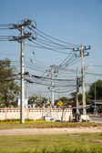 Aerial power cable in Asia — ストック写真