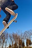 Skate board going airborne — Stock Photo
