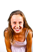 Portrait of cute young teenage girl — Stockfoto