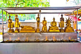 Buddhas for giving offerings in monastery Wat Na Phramane in Aju — Stock Photo