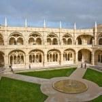 Monastery Jeronimos in Belem, near Lisbon, famous monastery in P — Stock Photo