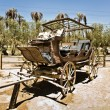 Stock Photo: Old original wooden stage coaches in Ranch in Desert Valley