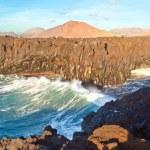 Los Hervideros, coastline with huge waves — Stock Photo #5863270