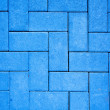 Pavement pattern made with cast concrete blocks in blue color — Stock Photo #5863389