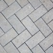 Pavement pattern made with cast concrete blocks in grey color — Stock Photo #5863432