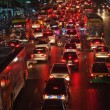 Heavy traffic at Main Road in Bangkok at night — Zdjęcie stockowe
