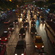 Heavy traffic at Main Road in Bangkok at night — Photo