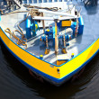 Detail of boat for inland water transportation - Stock Photo