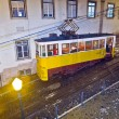 Lisbon at night, famous tram, historic streetcar is running — Stock Photo #5995024