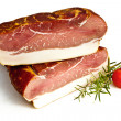 Fresh tasty ham in detail — Stock Photo