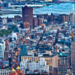 Aerial panoramic view over upper Manhattan from Empire State bui — Stock Photo