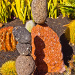 Stock Photo: Stone sculptures build from volcanic stones