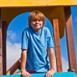 Portrait of happy teenager at a playground — Stock Photo
