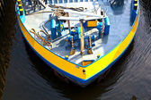 Detail of boat for inland water transportation — Stock Photo