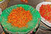 Fresh chilli flowers — Stock Photo
