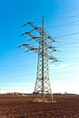 Electricity tower for energy in beautiful landscape — Stock Photo