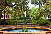 Iron fountain in Savannah on a square — Stock Photo