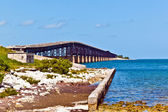 Old Railroad Bridge on the Bahia Honda Key in the Florida keys — Foto Stock