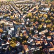 Stock Photo: small typical german small city of bonames in birds view