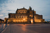 Semper Opera from outside in Dresden — ストック写真